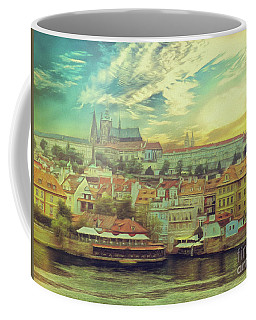 Coffee Mug featuring the photograph Prague Riverview by Leigh Kemp