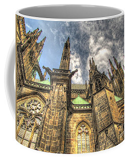 Coffee Mug featuring the pyrography Praha Castle by Yury Bashkin