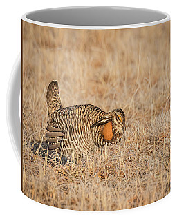 Coffee Mug featuring the photograph Prairie Chicken 9-2015 by Thomas Young