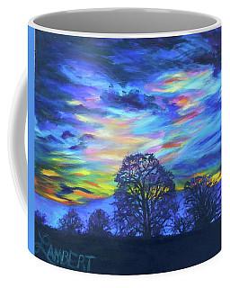 Coffee Mug featuring the painting Prairie Fireworks 2 by Bonnie Lambert