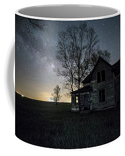Coffee Mug featuring the photograph Prairie Gold And Milky Way by Aaron J Groen