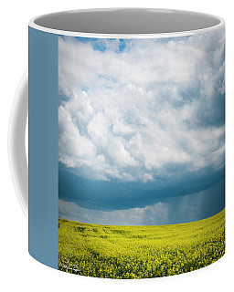 Prairie Storm Over The Canola Coffee Mug