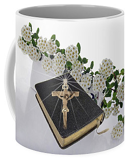 Prayer Book With Flowers Coffee Mug