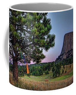 Prayer Flags At Devils Tower Coffee Mug