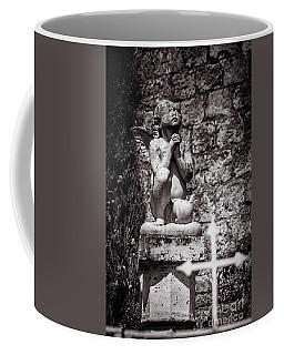 Praying Angel In Auvillar Cemetery Bw Coffee Mug by RicardMN Photography