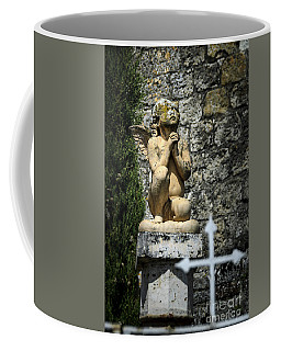 Praying Angel In Auvillar Cemetery Coffee Mug by RicardMN Photography