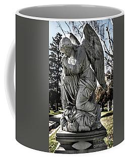 Praying Cemetery Angel  Coffee Mug by Gary Whitton