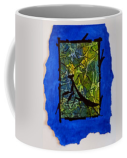 Praying Mantis Silhouette Coffee Mug