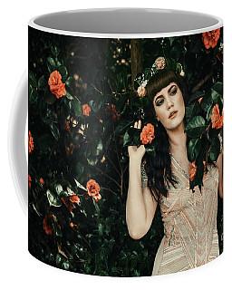 Pre-raphaelite Style Portrait Coffee Mug