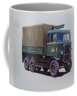 Pre-war Leyland Wrecker. Coffee Mug by Mike Jeffries