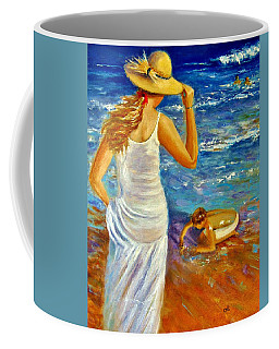 Coffee Mug featuring the painting Precious Memories  by Cristina Mihailescu