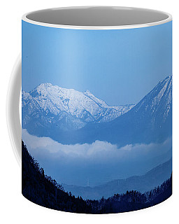 Coffee Mug featuring the photograph Predawn Peaks by Rikk Flohr