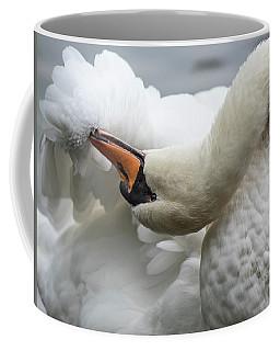 Preening Swan-7758 Coffee Mug