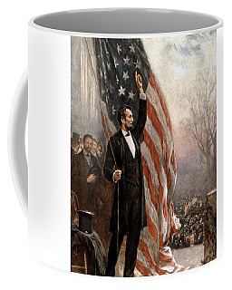 President Abraham Lincoln Giving A Speech Coffee Mug