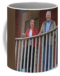 President And Mrs Carter On Plains Inn Balcony Coffee Mug