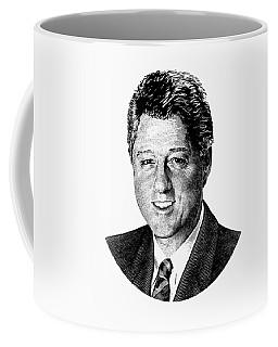 President Bill Clinton Graphic - Black And White Coffee Mug