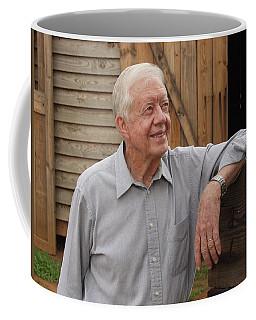 President Carter At His Boyhood Farm Coffee Mug
