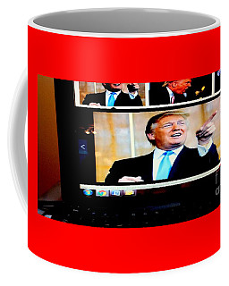 Coffee Mug featuring the digital art President Elect Donald Trump Told You I'm A Winner by Richard W Linford