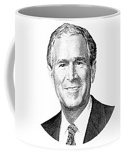 President George W. Bush Graphic - Black And White Coffee Mug