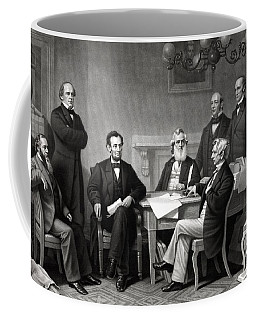 President Lincoln And His Cabinet Coffee Mug