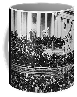 President Lincoln Gives His Second Inaugural Address - March 4 1865 Coffee Mug by International  Images