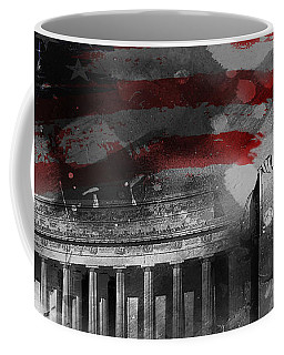 Coffee Mug featuring the painting President Lincoln  by Gull G