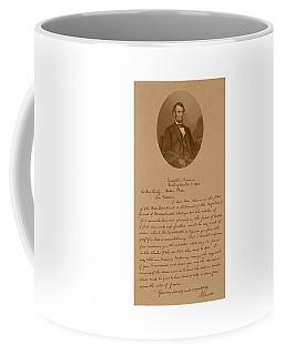 President Lincoln's Letter To Mrs. Bixby Coffee Mug