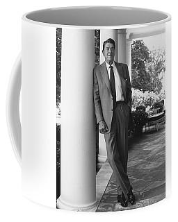 President Reagan Outside The White House Coffee Mug