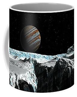 Pressure Ridge On Europa Coffee Mug by David Robinson