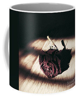 Pretty Dead Rose Resting In The Warm Sun Coffee Mug