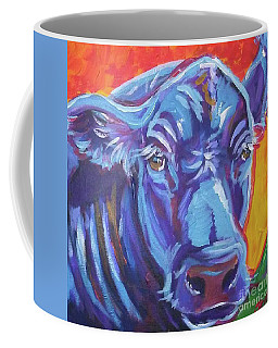 Coffee Mug featuring the painting Pretty Face Cow by Jenn Cunningham