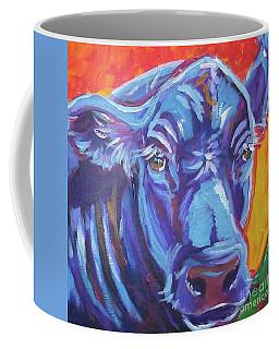 Pretty Face Cow Coffee Mug by Jenn Cunningham