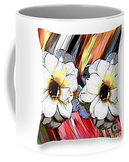 Coffee Mug featuring the digital art Pretty Flowers Throw Pillow by Gayle Price Thomas