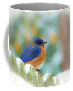 Coffee Mug featuring the photograph Pretty In Blue by Ola Allen