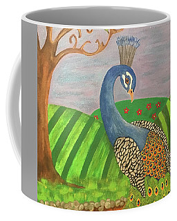 Pretty In Peacock Coffee Mug