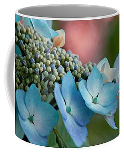 Coffee Mug featuring the photograph Pretty In Pink And Blue by Patricia Strand