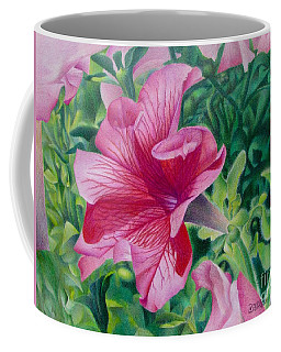 Coffee Mug featuring the painting Pretty In Pink by Pamela Clements