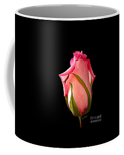 Coffee Mug featuring the photograph Pretty In Pink Rosebud by Sue Melvin