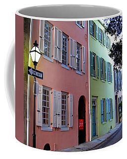 Coffee Mug featuring the photograph Pretty Lane In Charleston by Susanne Van Hulst