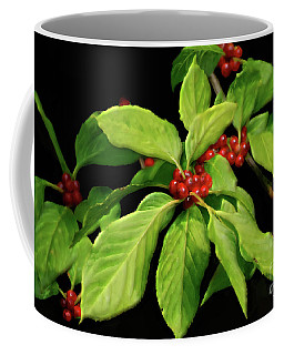 Coffee Mug featuring the photograph Pretty Little Red Berries by Lois Bryan
