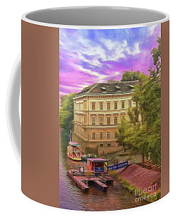 Coffee Mug featuring the photograph Pretty On The River - Prague by Leigh Kemp