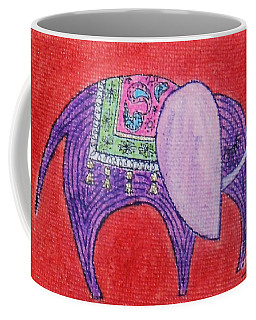Pretty Pachyderm -- Whimsical Elephant Coffee Mug