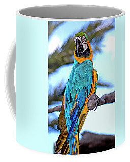 Coffee Mug featuring the photograph Pretty Parrot by Carolyn Marshall