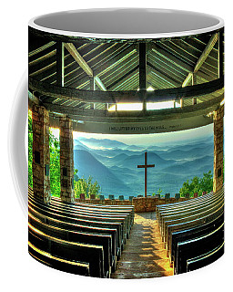 Pretty Place Chapel The Son Has Risen Blue Ridge Mountain Art Coffee Mug