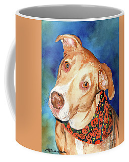 Pretty Please, Dog Portrait, Dog Painting, Dog Print, Dog Art Coffee Mug