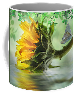 Pretty Sunflower Coffee Mug by Nina Bradica