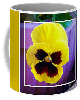 Pretty Yellew Pansey Coffee Mug