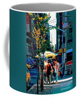 Hot Dog Stand Nyc Late Afternoon Ik Coffee Mug