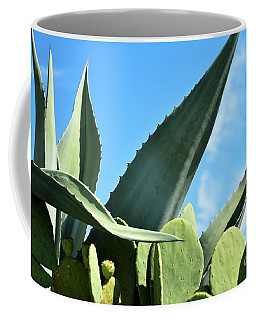 Coffee Mug featuring the photograph Prickly Pear Cactus And Century Plant by Ray Shrewsberry