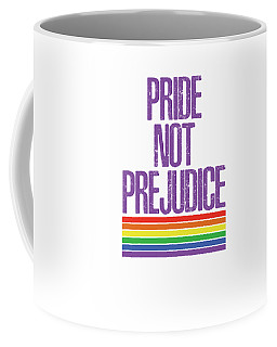 Coffee Mug featuring the drawing Pride Not Prejudice by Heidi Hermes